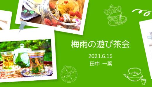 【6月15日(火)】梅雨の遊び茶会